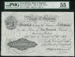 Bank of England, B.G. Catterns, £100, Bristol 13 February 1933, prefix 77Y, black and white, ornate