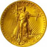 MCMVII (1907) Saint-Gaudens Double Eagle. High Relief. Wire Rim. MS-66+ (PCGS).