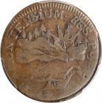 1786 Vermont Copper. Landscape. RR-6, Bressett 4-D, W-2020. Rarity-2. VERMONTENSIUM. Fine-12 (PCGS).