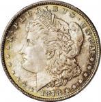 1878 Morgan Silver Dollar. 7 Tailfeathers. Reverse of 1879. MS-66 (PCGS).