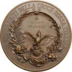 Casa Savoia - Regno di Sardegna - Regno di Italia, Medaglia 1897 conferita al Dott. Navaquez. Brambi