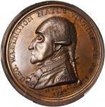 1790 (ca. 1850) Manly Medal. Second Obverse. Copper. 49 mm. Musante GW-11, Baker-62B. MS-63 BN (PCGS