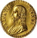 AUSTRIA. Salvator Mundi Gold Medallic 6 Ducats, ND (1616-63). PCGS AU-58 Gold Shield.