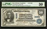 New Orleans, Louisiana. $50 1902 Plain Back. Fr. 676. The Whitney-Central NB. Charter #3069. PMG Ver