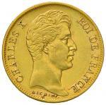 """Foreign coins;""""FRANCIA Carlo X (1824-1830) 40 Franchi 1830 A - KM 721; Gad. 1105 AU (g 12.92) - BB+"""""""
