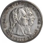 1900 Lafayette Silver Dollar. Unc Details--Harshly Cleaned (PCGS).