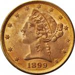 1899 Liberty Head Half Eagle. MS-61 (PCGS). OGH--First Generation.