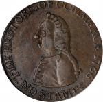 1766 Pitt Halfpenny Token. Betts-519, W-8350. Copper. EF-40 (PCGS). OGH.