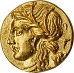 SICILY. Syracuse. Hieron II, 275-215 B.C. AV 60 Litrai (Hemistater) (4.20 gms), 218/7-215 B.C. NGC C