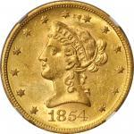 1854-S Liberty Head Eagle. MS-61 (NGC).