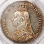 英国 (Great Britain) ヴィクトリア女王像 ジュビリーヘッド 1クラウン銀貨 1887年 KM765 / Victoria Jubilee Head 1 Crown Silver Pro