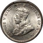 Straits Settlements, silver 10 cents, 1927, (KM 29b), PCGS MS63, #40453233