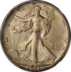 1921-S Walking Liberty Half Dollar. AU Details--Whizzed (NGC).