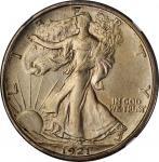 1921-S Walking Liberty Half Dollar. AU Details--Whizzed (NGC).