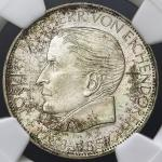 GERMANY Federal Rep 西ドイツ 5Mark 1957J NGC-UNC DetailsCleaned 洗浄 -UNC