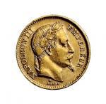 1867年拿破仑三世皇帝像金币