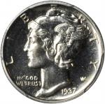 1937 Mercury Dime. Proof-66 (PCGS). CAC.