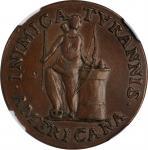 1785 (1860s) Inimica Tyrannis Americana / Confederatio Copper Muling. Small Circle. Bolen Copy. Kenn
