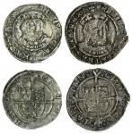 Henry VIII (1509-47), third coinage, Groats (2), both Southwark, 2.55g, m.m. none, henric 8 di gra a