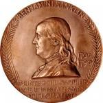 1906 Benjamin Franklin Birth Bicentennial Medal. U.S. Mint Striking. By Augustus and Louis Saint-Gau