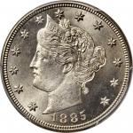 1885 Liberty Head Nickel. MS-66+ (PCGS). CAC.