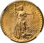 1911-D/D Saint-Gaudens Double Eagle. FS-501. Repunched Mintmark. MS-66 (NGC).