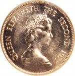 1977年香港壹仟圆。生肖系列,蛇年。 HONG KONG. 1000 Dollars, 1977. Lunar Series, Year of the Snake. NGC MS-64.