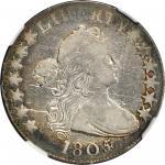 1805/4 Draped Bust Half Dollar. O-103a, T-11. Rarity-5+. Fine-12 (NGC).