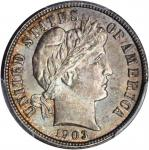 1903 Barber Dime. MS-65 (PCGS). CAC.