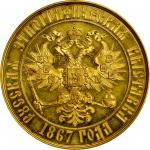 RUSSIA. Moscow Ethnographic Exposition Award Gold Medal, 1867. NGC MS-63.