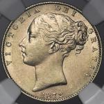 GREAT BRITAIN Victoria ヴィクトリア(1837~1901) Sovereign 1872 NGC-MS61 AU