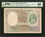 INDIA. British Administration. 100 Rupees, ND (1917-30). P-10d. PMG Very Fine 30.