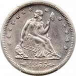 1856-S Liberty Seated Quarter Dollar. PCGS AU58