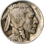 1918/7-D Buffalo Nickel. FS-101. Fine-12 (PCGS).