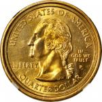(2000)-P Sacagawea Dollar--Muled with a Statehood Quarter--MS-67 (NGC).