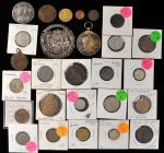 MIXED LOTS. Group of World Coins and Medals (27 Pieces), 19th and 20th Century. Grade Range: VERY GO
