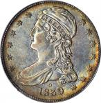 1839-O Capped Bust Half Dollar. Reeded Edge. HALF DOL. GR-1. Rarity-1. Repunched Mintmark. AU-53 (PC