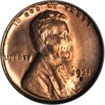 1931-S Lincoln Cent. MS-64 RD (PCGS).