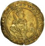 Edward VI (1547-53), third period 1550-53, Half-Sovereign, 5.49g, m.m. tun both sides, :edward. vi: