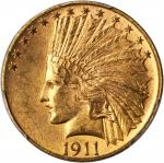 1911 Indian Eagle. MS-63 (PCGS).