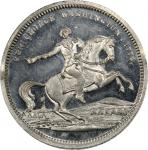 Circa 1860 Equestrian / Valley Forge Headquarters medal by George H. Lovett. Musante GW-285, Baker-1