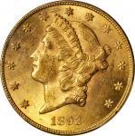 1893-CC Liberty Head Double Eagle. MS-61 (PCGS).