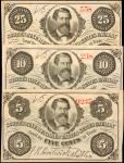 Lot of (3) Obsolete Notes. New York. Scotts Nine Hundred United States Cavalry. Very Fine to Extreme