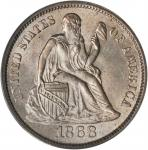 1868-S Liberty Seated Dime. Fortin-101, the only known dies. Rarity-4. MS-63 (PCGS). CAC.