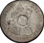 英国 (Great Britain) ジョージ3世像 加刻印 1ドル銀貨 年号なし(1804年) KM656 / George III 1 Dollor Silver (Contermark On M