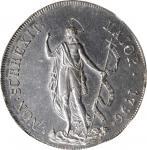 ITALY. Genoa. 8 Lire, 1796. NGC MS-61.
