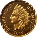 1871 Indian Cent. Snow-PR1. Shallow N. Proof-66 RD Cameo (PCGS). CAC. Eagle Eye Photo Seal.