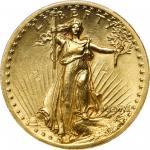 MCMVII (1907) Saint-Gaudens Double Eagle. High Relief. Wire Rim. Unc Details--Cleaning (PCGS).