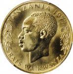 TANZANIA. 20 Senti, 1977. PCGS SPECIMEN-64 Gold Shield.