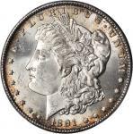 1891-CC Morgan Silver Dollar. VAM-3. Top 100 Variety. Spitting Eagle. MS-64+ (PCGS). CAC.